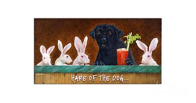 Painting - Hare Of The Dog... by Will Bullas