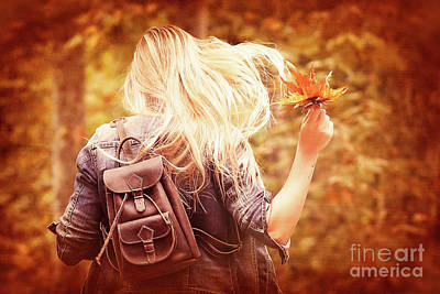 Photograph - Having Fun In Autumn Park by Anna Om