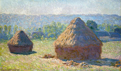 Wheat Painting - Haystacks, End Of Summer by Claude Monet