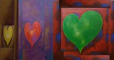 Photograph - 3 Hearts by Rob Hans