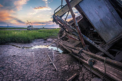 Photograph - Heswall Boat Sunset by Andrew White