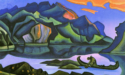Traquil Painting - Hidden Treasure by Nicholas Roerich