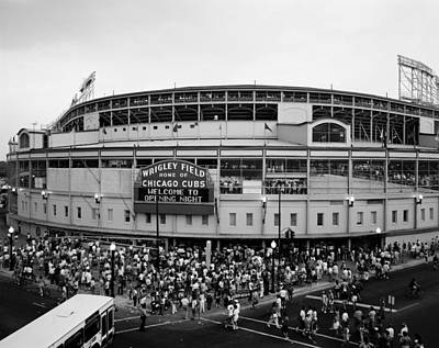 Wrigley Field Photograph - High Angle View Of Tourists by Panoramic Images
