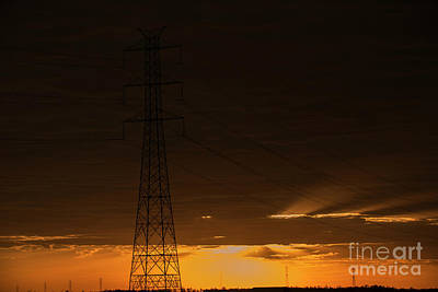 Photograph - High Voltage Power Tower by Rob D