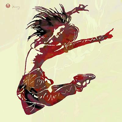 Dancing Mixed Media - Hip Hop Street Dancing  Pop Art Poster   by Kim Wang