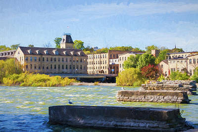 Photograph - Historic Fox River Mills by Joel Witmeyer