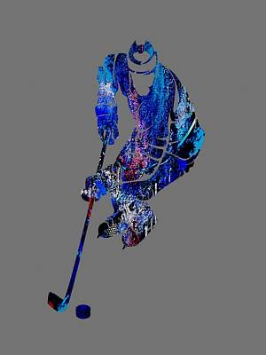 Mixed Media - Hockey Collection by Marvin Blaine