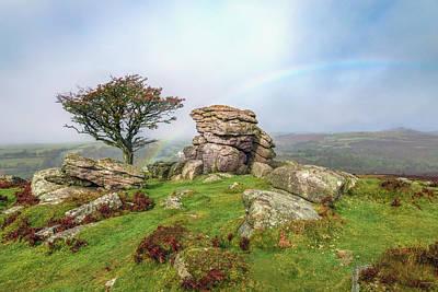 Gel Photograph - Holwell Tor - Dartmoor by Joana Kruse