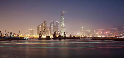 Hong Kong Night Scene Original by Kam Chuen Dung
