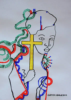 Painting - Hope For Peace  South Sudan by Gloria Ssali