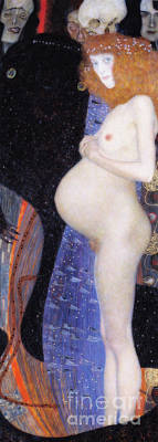 Painting - Hope I by Gustav Klimt