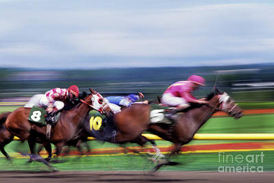 Photograph - Horse Race by Jim Corwin