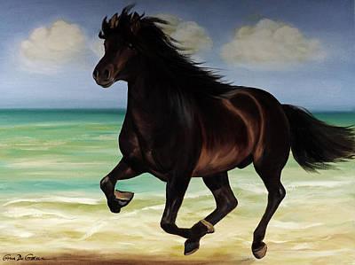 Painting - Horses In Paradise  Run by Gina De Gorna