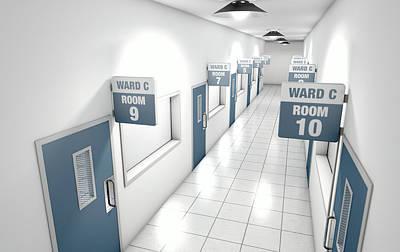 Hospital Hallway Print by Allan Swart