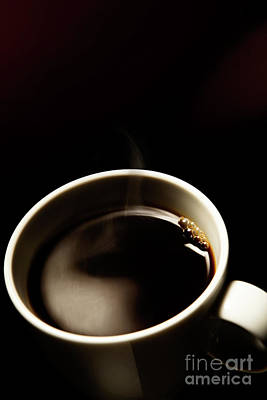 Coffee Photograph - Hot Cup Of Coffee by Wolfgang Steiner