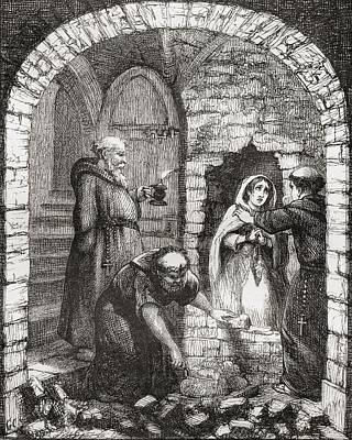 Dungeon Drawing - Illustration By George Cruikshank To by Vintage Design Pics