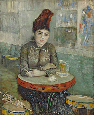Cigarette Painting - In The Cafe, Agostina Segatori In Le Tambourin by Vincent van Gogh