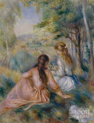 Painting - In The Meadow by Pierre Auguste Renoir