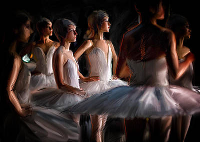 Backstage Painting - In The Wings by H James Hoff