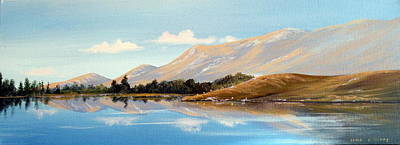 Inagh Valley Reflections Art Print by Cathal O malley