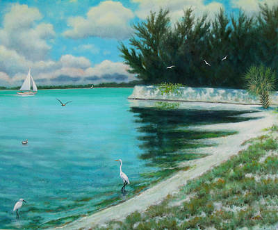 Bayside Painting - Indian Beach by Charles Yates