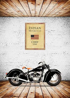 Indian Chief 1946 Art Print by Mark Rogan