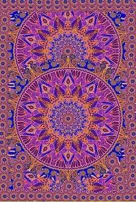 Tapestries - Textiles Digital Art - Indian Spring Silk Design by Sandrine Kespi