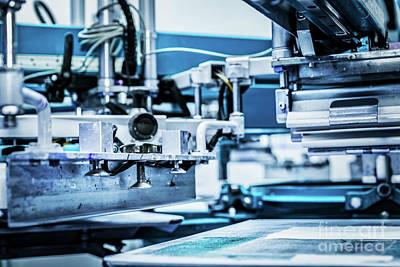 Serigraph Photograph - Industrial Metal Printing Machinery. by Michal Bednarek