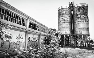 Photograph - Industrial Silos. by Gary Gillette