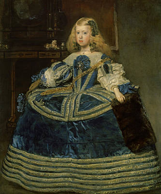 Painting - Infanta Margarita Teresa In A Blue Dress by Diego Velazquez