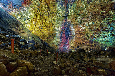 Magma Photograph - Inside The Volcano Thrihnukagigur - Iceland by Joana Kruse