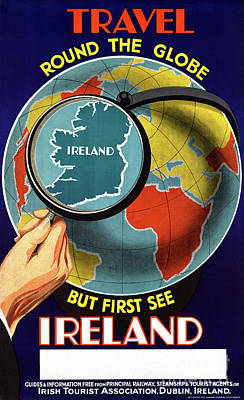 Mixed Media - Ireland Restored Vintage Travel Poster by Carsten Reisinger