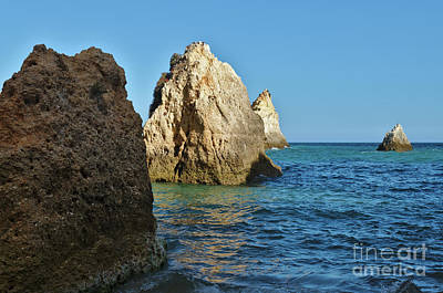 Photograph - 3 Irmaos Beach In Algarve by Angelo DeVal