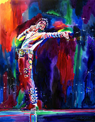 Music Legends Painting - Jackson Magic by David Lloyd Glover