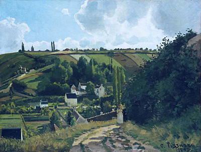 Jalais Hill, Pontoise Art Print by Camille Pissarro