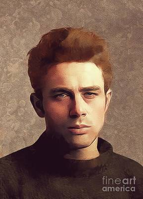 Actors Royalty-Free and Rights-Managed Images - James Dean, Hollywood Legend by Mary Bassett