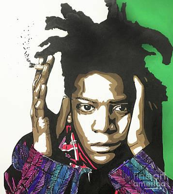 Painting - Jean-michel Basquiat by Nancy Mergybrower