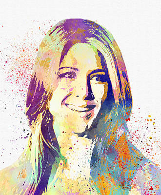 Jennifer Aniston Art Print by Elena Kosvincheva
