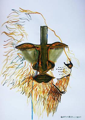 Painting - Jesus Lion Of Judah by Gloria Ssali