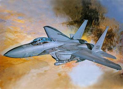 Jet Digital Art - Jet Fighter by Super Lovely