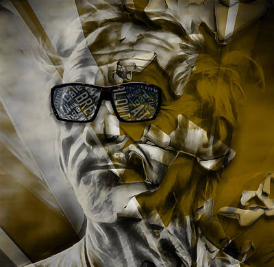 Mixed Media - Jj Cale They Call Me The Breeze by Marvin Blaine