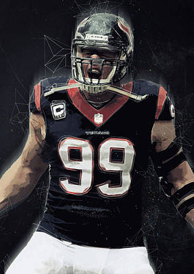 Jj Watt Art Print by Semih Yurdabak