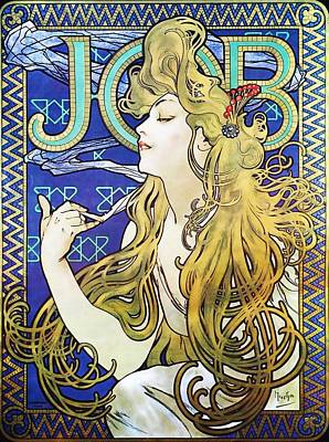 Painting - Job by Alphonse Mucha