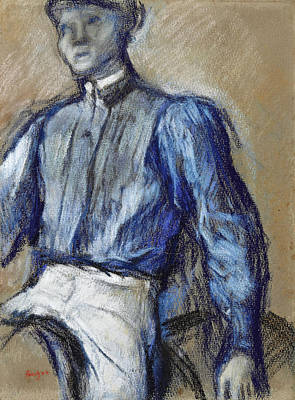 Drawing - Jockey by Edgar Degas