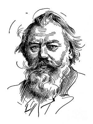 Drawing - Johannes Brahms 1833-1897 by Granger