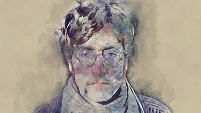 Mixed Media - John Lennon by Marvin Blaine
