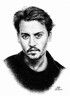 Johnny Depp Painting - Johnny Depp Bw Version by Andrew Read