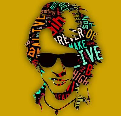 Singer Mixed Media - Jon Bon Jovi It's My Life Lyrics by Marvin Blaine