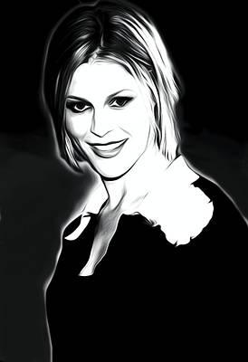Julie Bowen Portrait Art Print