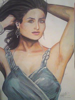 Intezaar Painting - Kareena Kapoor by Sandeep Kumar Sahota
